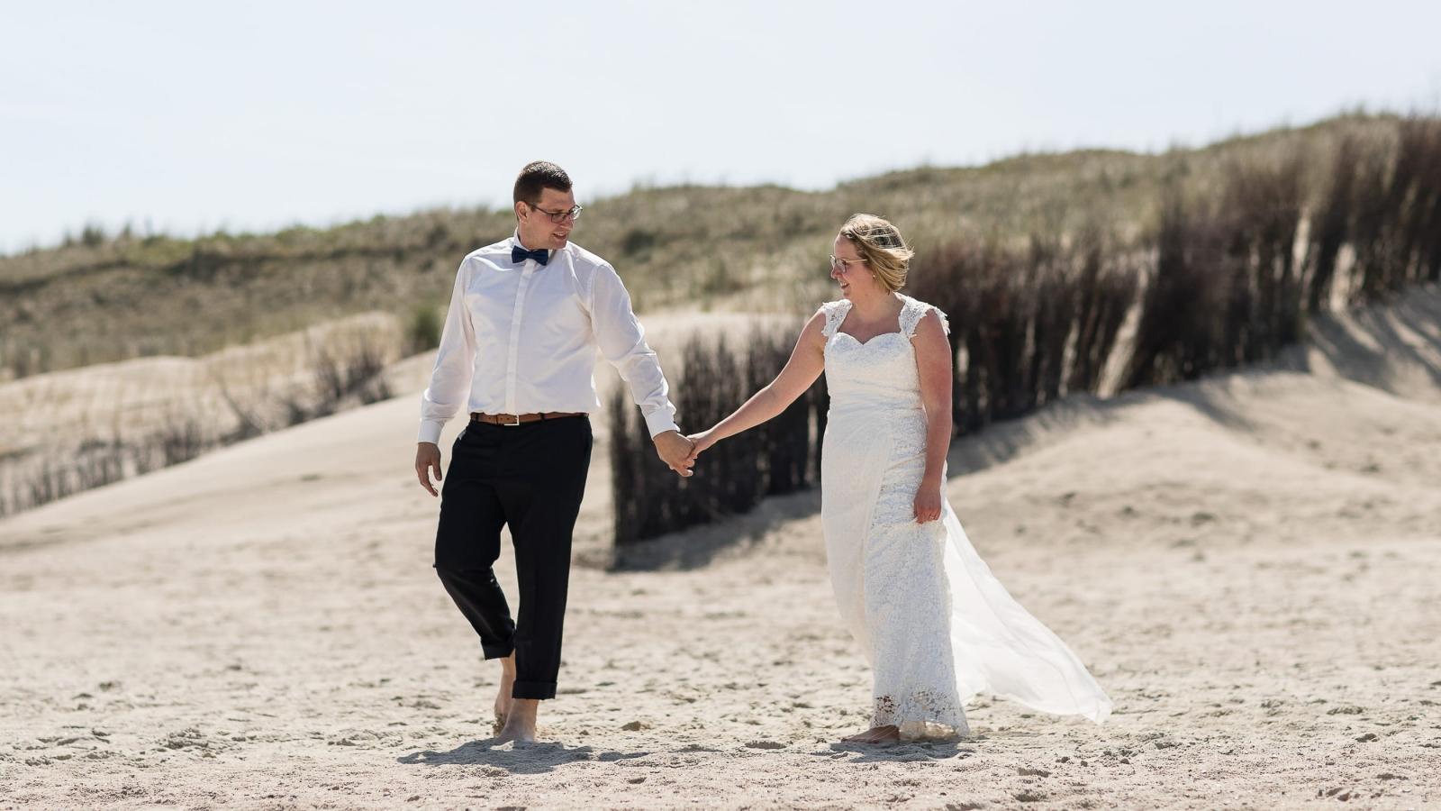 Hochzeitsfotos am Strand - Hochzeitsfotograf Wangerooge / Bremen